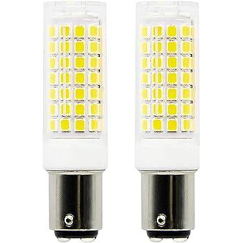 1819 BA15D bombillas LED de intensidad regulable 6 W equivalente a 75 W bombilla halógena, 95 V blanco 6000 K