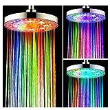 Best Plafond Douche Ampoules - Grand pommeau de douche LED à 7 couleurs Review