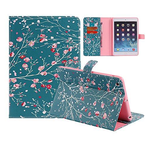 iPad Mini 1/2/3, Ultra Slim Case Kunstleder Magnetverschluss Ständer strapazierfähiger Bezug mit [Auto Sleep/Wake-Funktion] Schutzhülle Hard Shell für Apple iPad Mini 1/2/3, 01 Apricot Blossom Tree Wallace Blossom