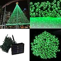 Ultr astyle LED Catena Di Luci Solari giardino esterno luce 22m 200LED 8modalità luce decorativa per terrazza natalizia Outdoor Party matrimonio (verde)
