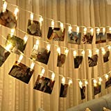 #7: Tomtopp 20 Photo Clips USB LED String Lamp Fairy Lights Xmas Home Decor(Warm White)