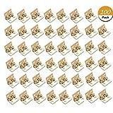 Uoeo 100Stück Mini Scharnier Clips Zusammenklappbar Butt Scharniere 4-Loch Klein Scharnier Metall Butt Scharnier Metall Schränke Fenster Türen Scharniere, mit 400Schrauben, 0,8x 1cm/8x 10mm