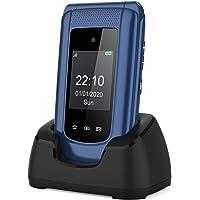 Simlockfreie Seniorenhandy Klapphandy ohne Vertrag,Großtasten Mobiltelefon SOS Notruffunktion,Aussendisplay,Taschenlampe…