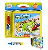 Malbücher mit wasser, BBLIKE Wasser Wow Malbuch ,wiederverwendbare Water Painting Kits Ein Buch Plus 2 Magic Water Pens für Kinder Tracing Zeichnen(Animal)