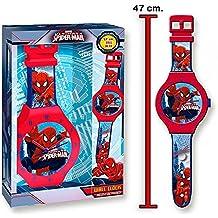 Spiderman - Reloj de pared grande, 47 cm (Kids MV16087)