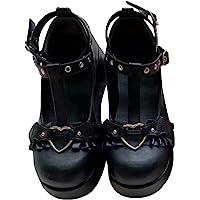 Damen Platform Mary Jane Schuhe Sweet Toe Knöchel Lolita Gothic Plattform Kleid Pumps Schuhe Chunky Plattform Schuhe…