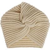 Vobony Turbante Cappello Invernale Elastico Beanie Berretto Lana a maglia Copricapo Cuffia da Notte Turbante per Muslim Chemi