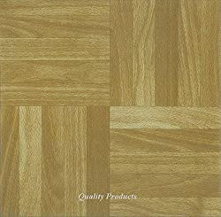 88 x Vinyl Floor Tiles - Self Adhesive - Kitchen / Bathroom, Sticky - Brand New - Square Wood Effect (2573)