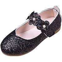 Deloito 2019 Baby Sandals,Children Kid Girls Solid Flower Shining Bling Student Single Dance Princess Shoes for 1-12…