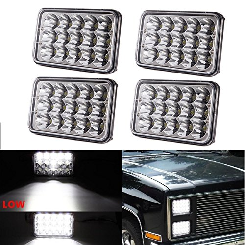 LED-Scheinwerfer rechteckig 10x 15cm mit Balken-Leuchten, 4x 6Zoll-Ersatz-Set für h4651h4652h4656h4666h6545Für Fahrzeuge (2Stück)