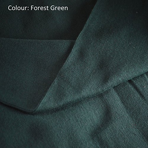 Neotrims Stretch Sweatshirt Rib Fabric, Knit Ribbing, Waistbands Cuffs. For Hoddies & Dressmaking. 10 colors Limited Quantities only at this price. Cotton Acrylic Poly Mix; Tubular fabric sold as 1 or 5 meters Wholesale price! - Forest Green - 1 Meter