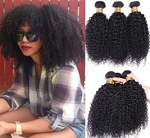 ck AFRO KINKY CURL Brasilianische Jungfrau Haar Weave Verlängerungen lockt Haar Einschlag 100% Menschenhaar Natürliche schwarze Farbe , 20 22 24 (Halloween 3 Todesfälle)
