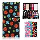 Oenbopo Make-up-Palette in Brieftaschenform, matter Lidschatten, Creme-Lidschatten, schimmernder Lidschatten, 21Lidschatten, 4Rouge, 1Puder Schwarz