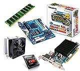 One PC Aufrüstkit | AMD FX-Series Bulldozer FX-8350, 8x 4.00GHz | montiertes Aufrüstset | Mainboard: Gigabyte GA-78LMT-USB3 | 4 GB RAM (1 x 4096 MB DDR3 Speicher 1600 MHz) | CPU Mainboard Bundle | Grafik: 2048 MB AMD Radeon R5 230 (1GB GDDR3 + 1GB Hypermemory | Passiv) DVI, HDMI, VGA | komplett fertig montiert!