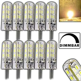 12 lampadine dimmerabili g4 da 1 5 watt con 24 led smd for Lampadine led 1 watt
