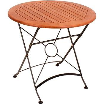 Amazon.de: Garten Tisch klappbar XL Holz Metall Garten Terrasse ...