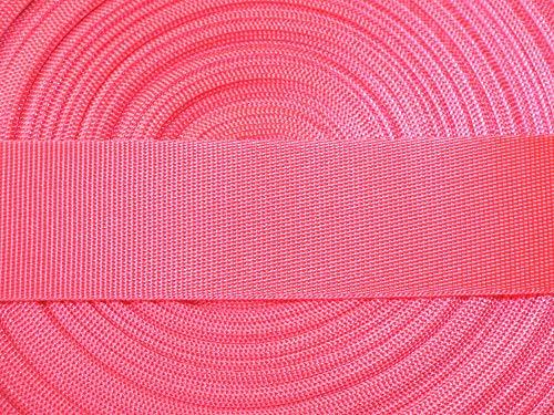 Großhandel für Schneiderbedarf 5 m Gurtband/Ripsband 30 mm neon pink feine Struktur