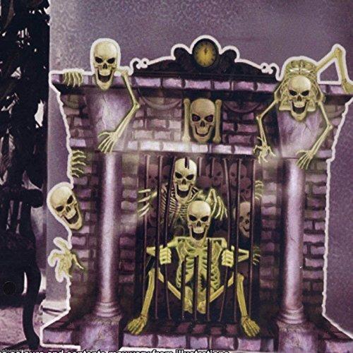 Wanddeko Kamin Skelett-Geister Halloween Scene (Setters Halloween Scene)