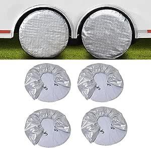 Reifenabdeckungen Für Wohnmobil Reifen Wohnmobil Reifenabdeckungen Wasserdicht Oxford Baumwolle Sonnenschutz Für Anhänger Lkw Wohnmobil Auto Passend Für 29 Reifendurchmesser Auto