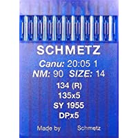 Schmetz 10Aiguilles rondes pour machine à coudre Système 134(R) Industrie St. 90