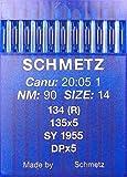 schmetz, 10 aghi con testa rotonda per macchina da cucire, sistema 134(R) Industriale, misura:90