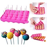 Cherrysma™ Round Lollipop Popsicle Silicone Mould and Ice Tray, Ideal Mold for Frozen Desserts and Kitchen Accessories (1 Pie