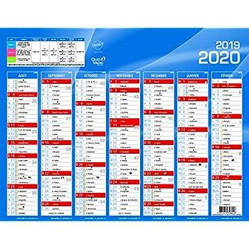 Calendrier 202016 A Imprimer.Calendrier 2019 2020 Format A4 Papier Epais Amazon Fr