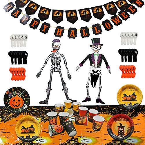 THE TWIDDLERS Komplette Halloween Saisonale Dekoration Party Set, 88 Teile - Alles in Einem Packung - Ideal für Mitgebsel und Geschenk/Partytüten Halloween ()