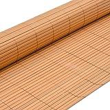 eyepower Valla de PVC 120x400cm | Pantalla de partición protectora privacidad viento sol decoración jardín balcón terraza | Estera de plástico semejante bambú | Beige
