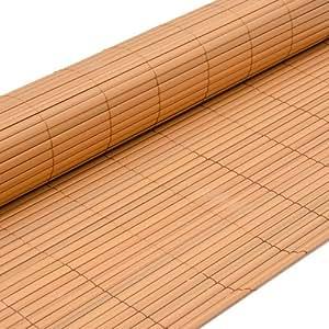 eyepower Canisse en PVC 200x300cm rouleau en plastique brise vue pare soleil coupe vent clôture barrière déco ombrager jardin balcon terrasse Beige