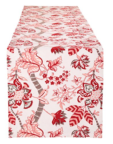 Table Runner for dining Table Cotton Pink Table Dining Table Placemat White...