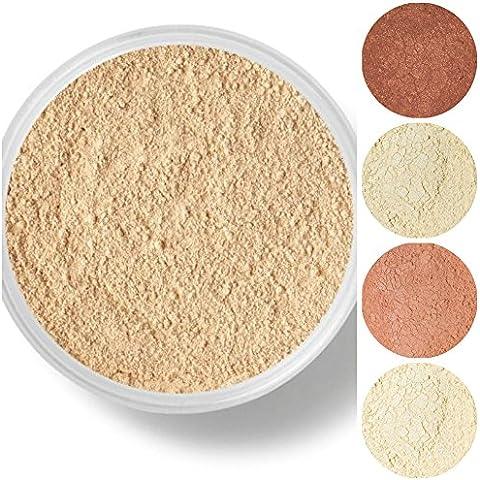 STARTER SET Mineral Makeup Kit Bare Skin Sheer Powder Matte Foundation Veil (Cocoa) by Sweet Face Minerals