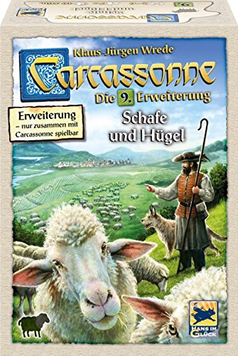 Hans im Glück SSP48265 - Carcassonne: Schafe und Hügel Neu, Familien Standardspiele
