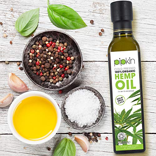 Pipkin-Aceite-de-Camo-100-Orgnico-250ml-Crudo-Prensado-en-Fro-Sin-Refinar-Color-Verde-Oscuro-Virgen-Extra-Rico-en-Omega-3-6-9-Ideal-como-Aderezos-y-Cuidado-Personal-No-GMO