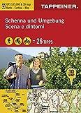 3D-Wanderkarte Schenna und Umgebung: Cartina escursionistica 3D Scena e dintorni (Kombinierte Sommer-Wanderkarten Südti