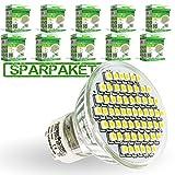 LumenStar® 10er Pack LED GU10 Lampe 3,5 Watt - 310lm, 3000K warmweiß, 120° Abstrahlwinkel, ersetzt 35W - Piacenza