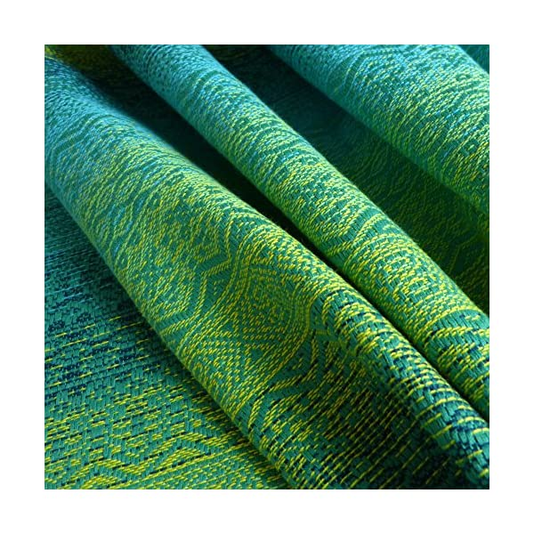 Didymos Woven Baby Wrap, Ada Malachit, Size 7, 520 cm, Green Didymos Various carrying positions, in front, sideways an on the back Special, diagonally stretchable cloth to give optimal support Holds your baby in the anatomically correct posture 5