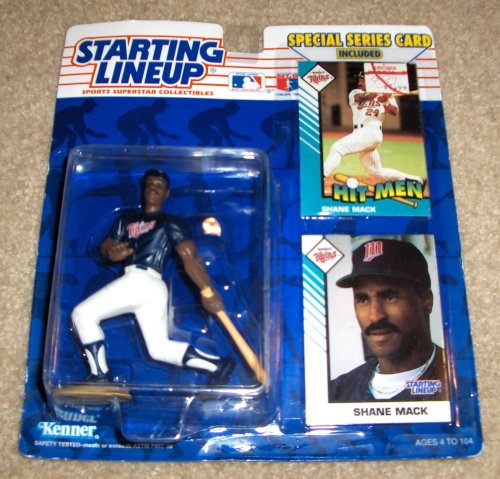 1993 - Kenner / MLB - Starting Lineup - Shane Mack / Minnesota Twins Figure - Special Series Cards Included - Out of Production - Limited Edition - Collectible Mlb Serie 1993