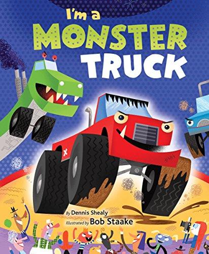 I'm a Monster Truck (Little Golden Board Book) (Monster Truck Board Book)