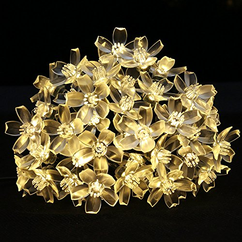 LE Solar Fairy Lights, 7 Meters, Waterproof, 50 LEDs, 1.2 V, Warm White, Portable, with Light Sensor, Outdoor String Lights, Ideal for Christmas, Wedding, Party