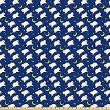 ABAKUHAUS Karikatur Microfaser Stoff als Meterware,