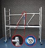 ASC Profi-Rollgerüst, Fahrgerüst, Zimmerfahrgerüst bis 3,0 m Arbeitshöhe, Plattform ohne Luke, TÜV/GS, erweiterbar