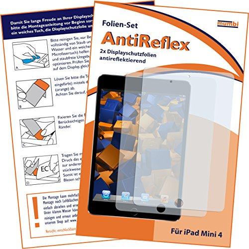 mumbi Schutzfolie kompatibel mit Apple iPad mini 4 2015 Folie matt, Bildschirmschutzfolie (2x)
