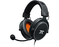 Fnatic React - Auriculares para Videojuegos y Esports con Controladores de 53 mm, Marco metálico, Sonido estéreo preciso, mic