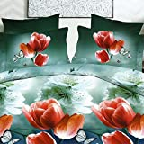 Looms of India Flower print Bed Sheet Se...