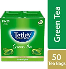 Tetley Green Tea Bags, Regular (50 Tea Bags)