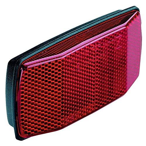 Gepäckträgerrückstrahler b&m mit Bohrung 50/80 mm, schwarz/rot (1 Stück)