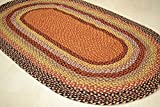 Best Braided Rugs - Rugsite Oval Jute Rustic Braided 90x150cm mat American Review