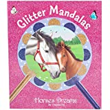 Depesche 5476 Malbuch Glitter Mandalas, Horses Dreams