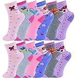 Unbekannt 10 Paar Mädchen ABS Socken Größe 24-39 (24-27)